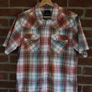 Prana Shirt * Size Medium * Plaid * Snaps